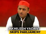 Video : Akhilesh Yadav's 3-Day Parliament Attendance Explained, Barely