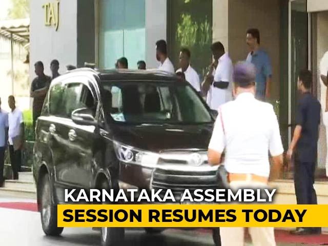 Video : Karnataka Lawmakers Head From Resorts To Assembly Amid Trust Vote Demand