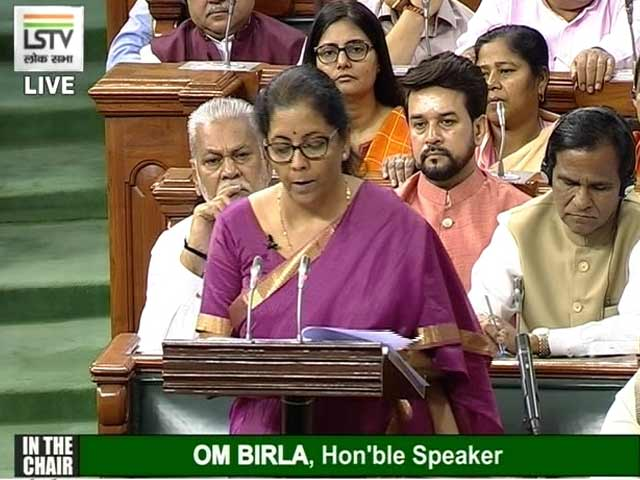 "Video : ""Set The Ball Rolling For New India"": Nirmala Sitharaman In Budget Speech"