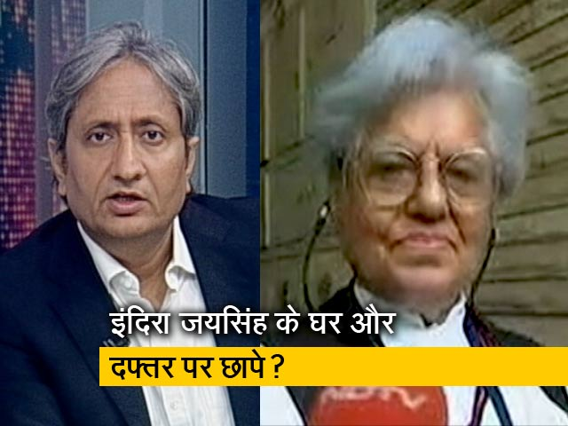 Video : रवीश कुमार का प्राइम टाइम: क्या इंदिरा जयसिंह और आनंद ग्रोवर को उनके बोलने की सज़ा दी जा रही है ?