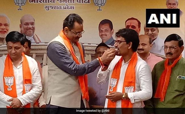 Alpesh Thakor, Another Former Congress Lawmaker Join BJP In Gujarat