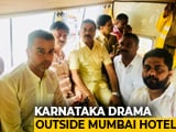 "Video : Karnataka Congress Leader Fails To Meet Rebels, ""Escorted"" Out Of Mumbai"