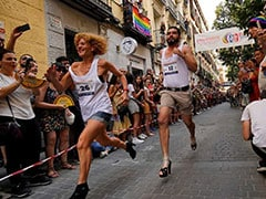 High Heels Race In Spain's Madrid Defies Gravity, Homophobia