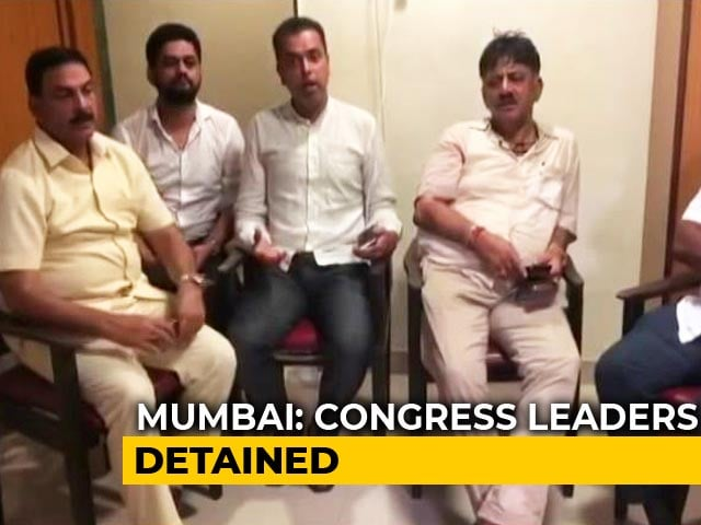 Video : Karnataka Drama At Mumbai Hotel, Congress Leaders Detained