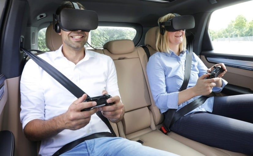 Porsche is trying to show what entertainment could be like in the future for the backseat passenger
