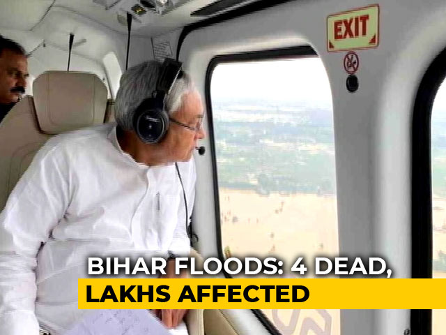 Video : 4 Dead, 18 Lakh Affected In Bihar; Nitish Kumar Tours Flood-Hit Areas