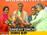 Video : Ex-Rajya Sabha Member Sanjay Singh, Wife Join BJP Day After Quitting Congress