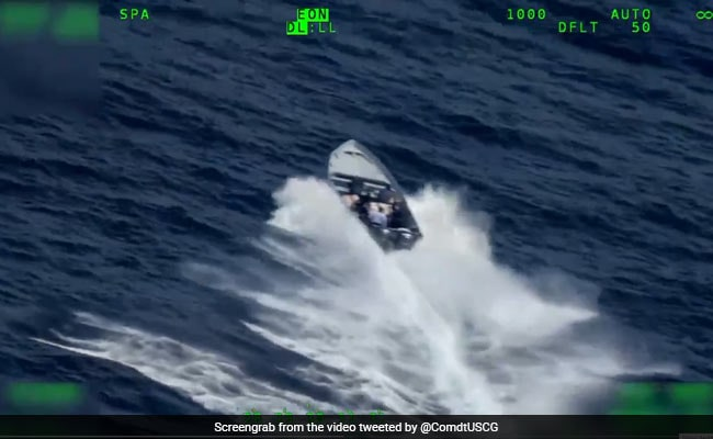 Video Shows Suspected Drug Smugglers Toss Cargo In Ocean Amid Seizure
