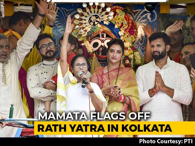 "Video : Nusrat Jahan, Special Invitee At Rath Yatra Event, Re-Iterates Stand For ""Inclusive India"""