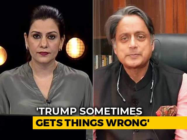 Video : PM Modi Must Clarify What He Said To Donald Trump: Shashi Tharoor To NDTV