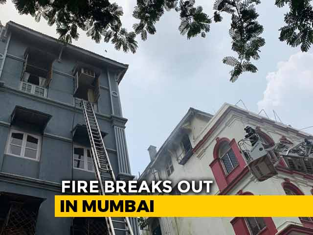 Video : 1 Dead In Fire At 4-Storey Building Near Taj Mahal Palace In South Mumbai