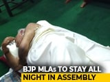 "Video : BJP Lawmakers Sleep Over At Karnataka Assembly To Protest ""Bias"""