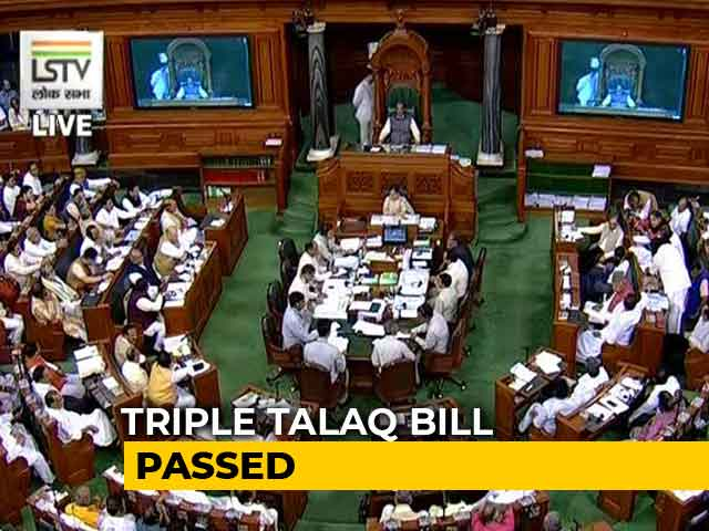 "Video : Bill To Ban Instant ""Triple Talaq"" Passed In Lok Sabha"