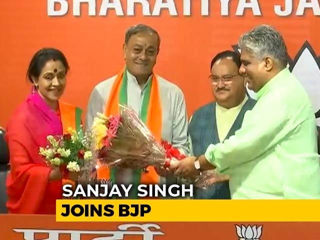 Video : Ex-Rajya Sabha Member Sanjay Singh, Wife Join BJP Day After Quitting Congress