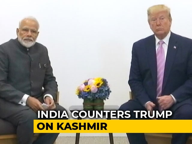 "Video : ""No Such Request By PM"": India Rejects Trump's Kashmir Mediation Claim"