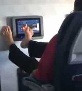 Viral Video Of Passenger Using Feet On In-Flight Screen Horrifies Twitter