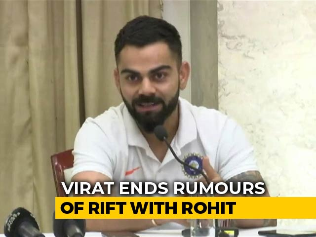 """Disrespectful"": Virat Kohli Dismisses Rumours Of Rift With Rohit Sharma"