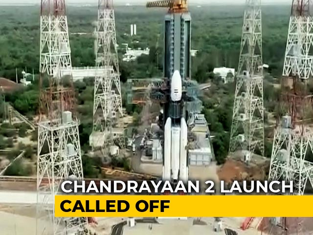 Video : Chandrayaan 2 Moon Mission Launch Aborted After Technical Snag