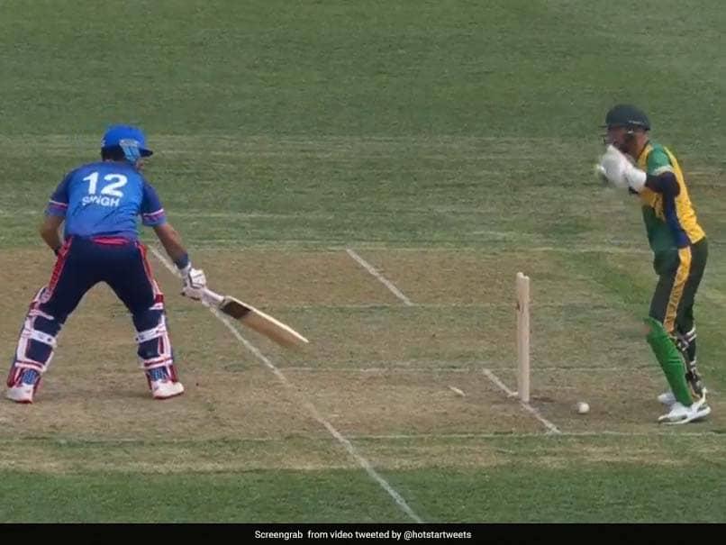 Yuvraj Singhs Bizarre Dismissal In Global T20 Canada Debut Game - Watch