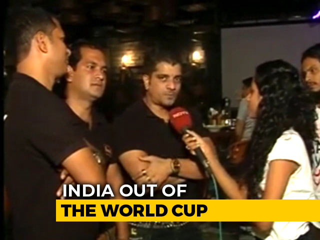 Video : World Cup 2019: Fans React To India's Heartbreaking Loss In Semi-Final