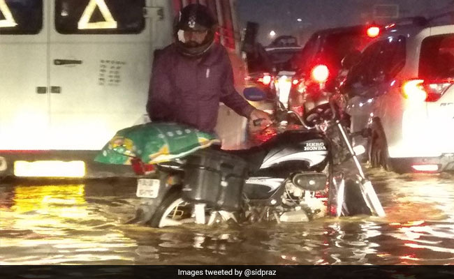 Heavy Rain Leads To Waterlogging, Hour-Long Traffic Jams In Gurgaon