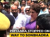 Video : Priyanka Gandhi Detained On Way To Visit Families Of 10 Shot Dead In UP
