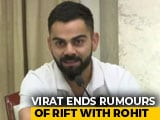 "Video : ""Disrespectful"": Virat Kohli Dismisses Rumours Of Rift With Rohit Sharma"