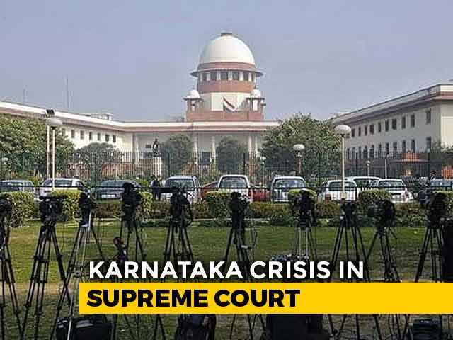"Video : Ahead Of Karnataka Trust Vote Tomorrow, ""Balanced"" Verdict From Top Court"