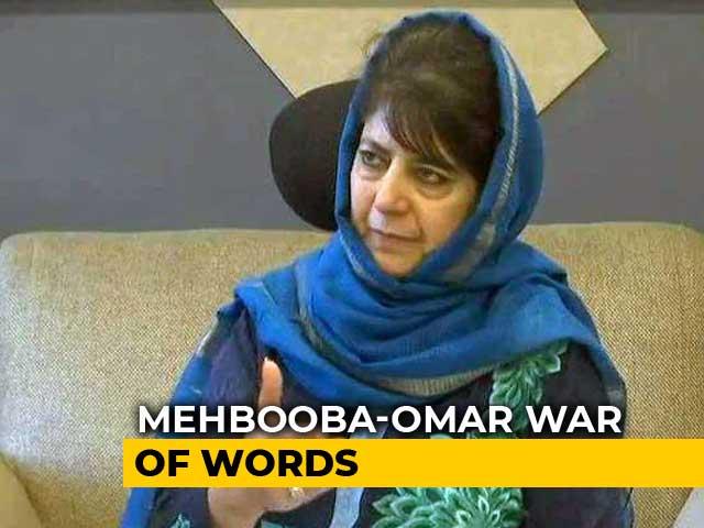 Video : War Of Words Between Omar Abdullah, Mehbooba Mufti Over Triple Talaq Bill