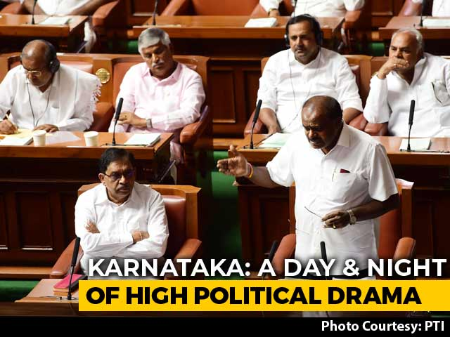 Video : 1:30 Deadline For Karnataka Coalition; BJP's Protest Sleepover