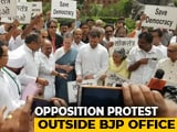 Video : Sonia, Rahul Gandhi Join Protests After Karnataka, Goa Congress Meltdown