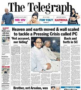 P Chidambaram's 'Prime Time' Arrest On Page 1 Of All Newspapers