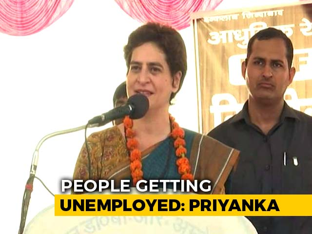 "Video : ""Economy So Bad That We Have To Advertise Our Plight"": Priyanka Gandhi"