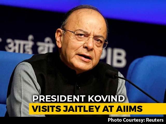 Video : President Ram Nath Kovind Visits Arun Jaitley In Hospital