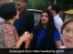 """Don't Abuse PM"": Shazia Ilmi Confronts Crowd With Pak Flags In Seoul"