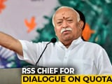 "Video: Mohan Bhagwat Calls For Talks On Reservation In ""Atmosphere Of Harmony"""