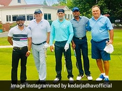 MS Dhoni Plays Golf With Kedar Jadhav On National Sports Day