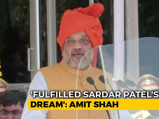 "Video : ""Fulfilled Sardar Patel's Dream"": Amit Shah On Centre's J&K Move"