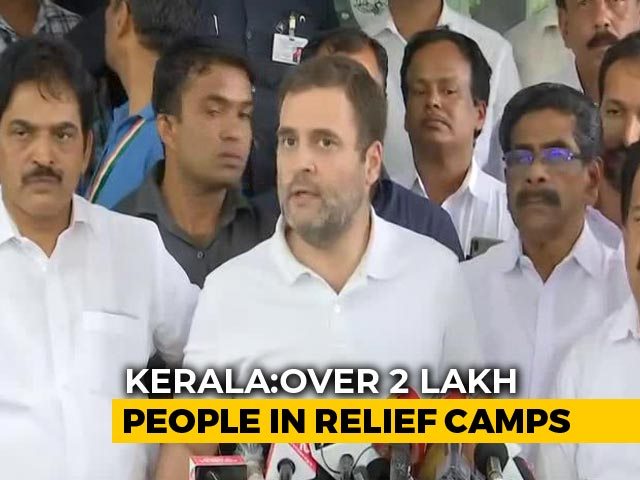 Video: 'This Is A Disaster, Don't Want To Blame': Rahul Gandhi On Kerala Floods