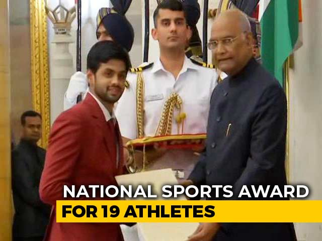 Video: 19 Athletes Get National Sports Awards From President