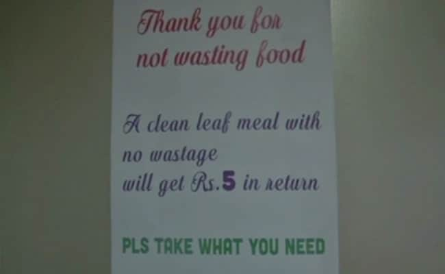 'Rs 5 Coin Gift': Tamil Nadu Restaurant's Novel Way To Stop Food Wastage