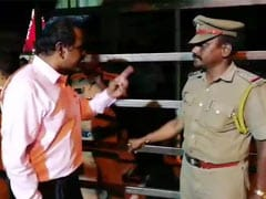 """You Are Finished"": Tamil Nadu Bureaucrat Threatens Cop On Camera"
