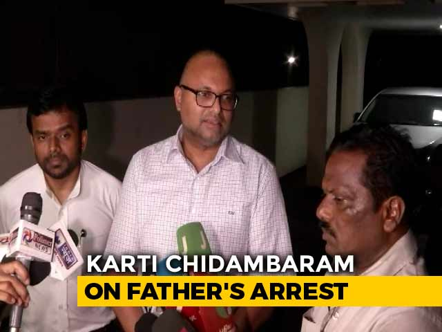 """Video : """"Drama For Viewing Pleasure Of Some"""": Karti Chidambaram On Father's Arrest"""