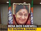 Video : Nation Grieves As Sushma Swaraj's Last Rites Performed, Top Leaders At Funeral