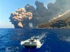 Boaters Rush To Safety As Volcano Erupts On Island. Watch