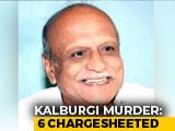 Video : Charges Filed In Karnataka Scholar MM Kalburgi's Murder Case, 6 Named