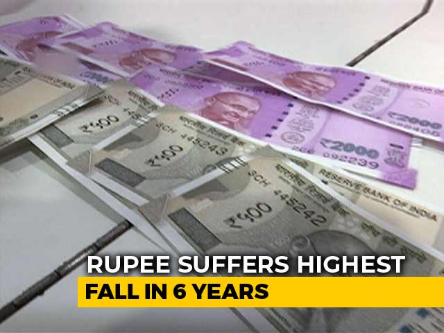 Video : Rupee Suffers Biggest Slump Against Dollar In 6 Years