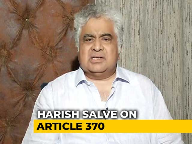 Video : Harish Salve Explains Article 370 Has Not Been Scrapped