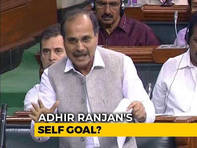 Video : Congress Blunder In Parliament As It Questions Government Over Kashmir