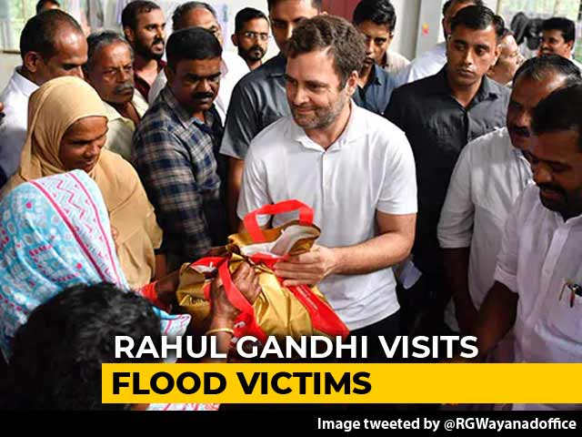 Video: Rahul Gandhi Visits Flood-Hit Constituency Wayanad, Seeks Aid From State